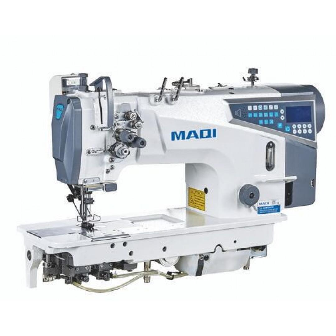 MAQI LS8750EZN-D4 промышленная 2-игольная машина челночного стежка с автоматическими функциями, отключением игл, и увеличенными челноками